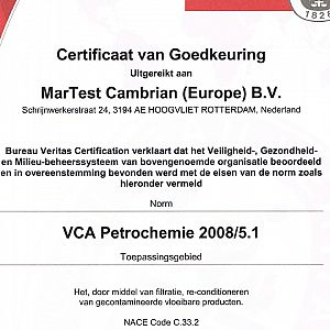 VCA** Petrochem accreditation
