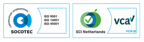 ISO-9001 / ISO 45001 / ISO 14001 and SCC-Petrochem certified!